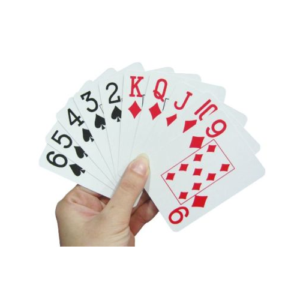 Large print playing cards.