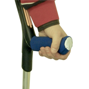 Crutch handle cover.