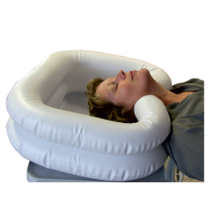 Inflatable hair wash tray