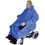 Waterproof electric wheelchair cover.