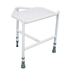 Corner shower stool.