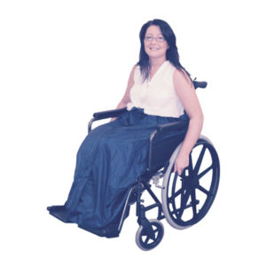 Wheelchair thermal leg cover.