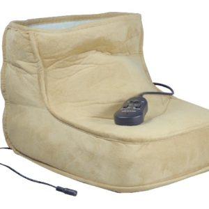 Foot warmer with massage.