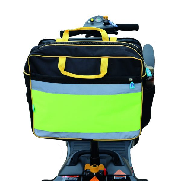 Our high visibilty mobility scooters bags offer excellent storage and add a little safety when using your scooter.