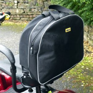 black slipover scooter bag